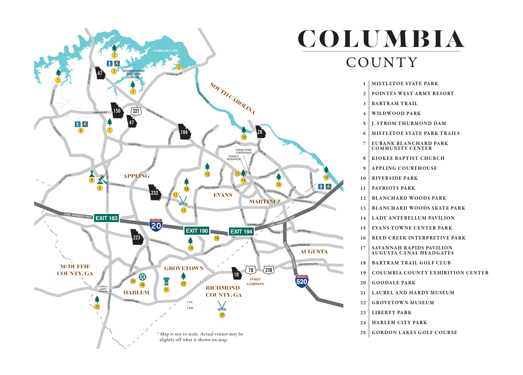 Map Columbia County Christmas Parade 2020 Visit Columbia County | Stay Awhile