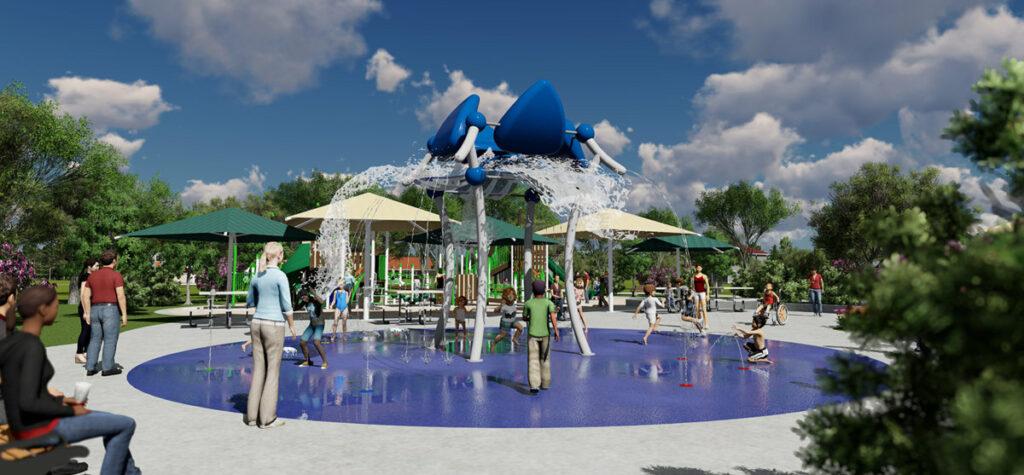 Massive Spalsh Splash-Pad at Gateway Park