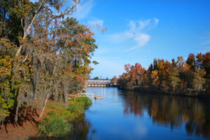 Fall Foliage and Biking on the Augusta Canal Bike Path