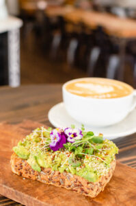 Rooted avo toast and coffee