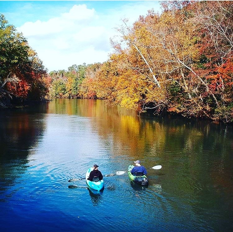 Fall Kayakers- Augusta Canal